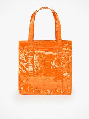 hvisk orange axelväska Cayman shoppingväska