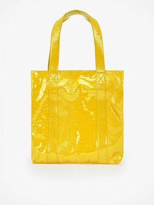 hvisk gul axelväska Cayman shoppingväska
