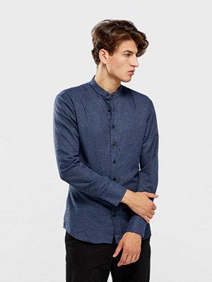 Skjortor - Kronstadt Dean Henley Matrix långärmad skjorta