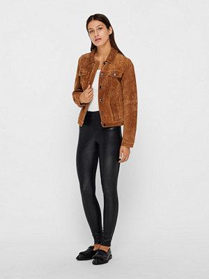 Only Maria Faux Leather byxor svarta