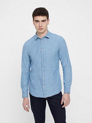 Skjortor - Only & Sons Ted LS SLUB Chamb skjorta