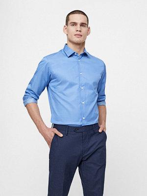 Selected Langærmet Slimpen-Pelle skjorta