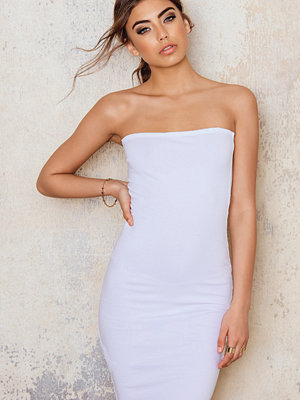 NA-KD Basic Basic Jersey Bandeau Dress vit