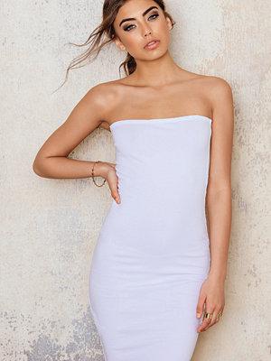NA-KD Basic Basic Jersey Bandeau Dress vit