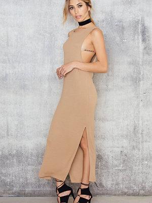 NA-KD Trend Rib Split Side Midi Dress