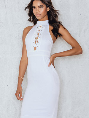Luxe Fashion Label Lace Me Up Midi Dress