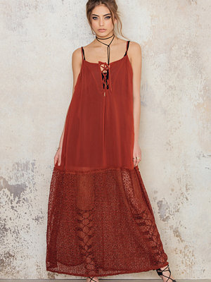 NA-KD Boho Lacing Maxi Dress