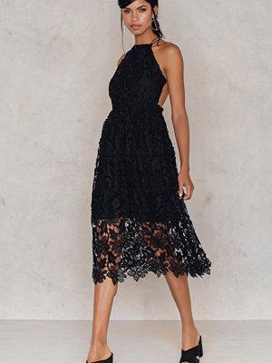 NA-KD Boho Crochet Strap Back Dress svart