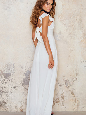 Amazing Crepe Maxi Dress with Front Side Split