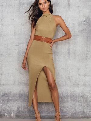 NA-KD Pleated Dress With High Split