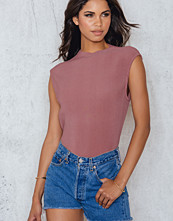 NA-KD Trend Highneck Pleated Top