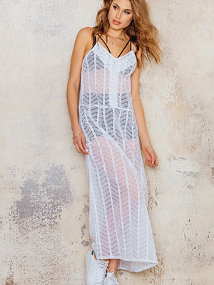 NA-KD Boho Maxi Embroidery Dress - Långklänningar