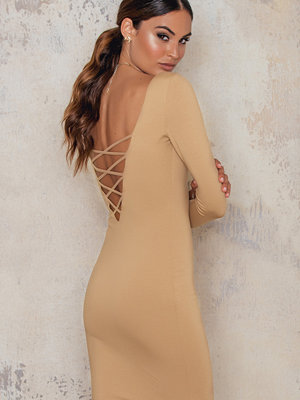 Passion Fusion Crisscross Back Bodycon Dress