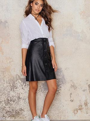 Kjolar - Filippa K Panel Button Leather Skirt
