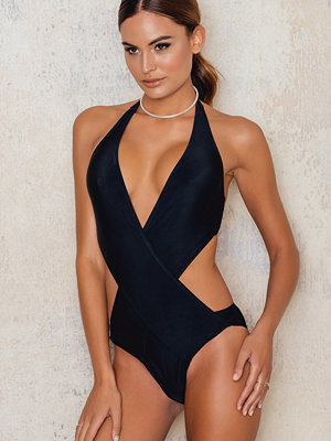 NA-KD Swimwear Wrapped Front Swimsuit