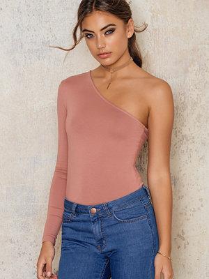 NA-KD Basic One Shoulder Jersey Top