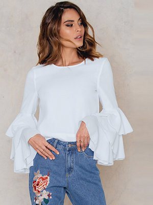 NA-KD Boho Triple Layer Flounce Blouse vit