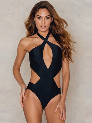 Baddräkter - NA-KD Swimwear Twisted Front Cut Out Swimsuit