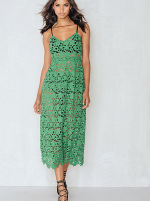 Beatrix for NA-KD Floral Crochet Midi dress