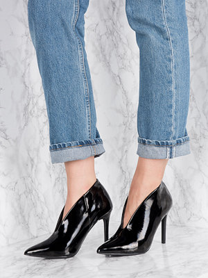 Pumps & klackskor - NA-KD Shoes Lacquer Plunge Heel