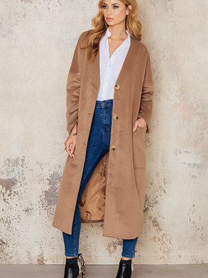 IMVEE Loose Big Pockets Coat brun beige