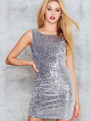 NA-KD Party Sequins Deep Back Dress