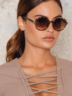 NA-KD Accessories Leopard Round Sunglasses