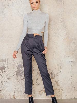IMVEE mörkgrå byxor V Detail Pants
