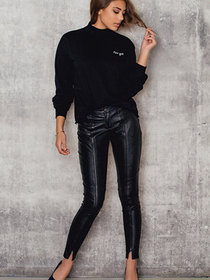 Josefin Ekström for NA-KD Zipped PU Pants