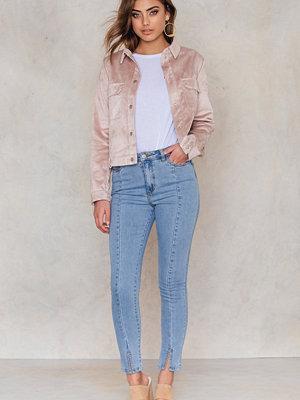 Jeans - NA-KD Highwaist Skinny Front Slit Jeans