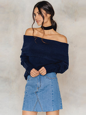 NA-KD Patched Denim Skirt