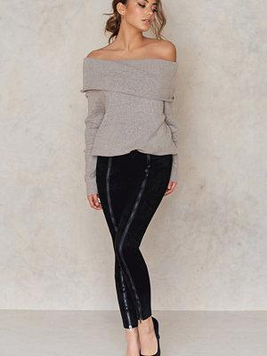 Josefin Ekstrom for NA-KD Zipped Suede Pants