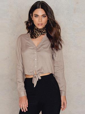 Skjortor - NA-KD Boho Knot Detail Shirt