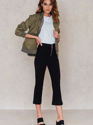 NA-KD Trend Zipped Kick Flare Pants