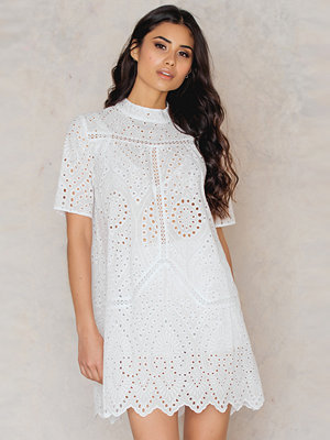 NA-KD Boho Crochet High Neck Dress