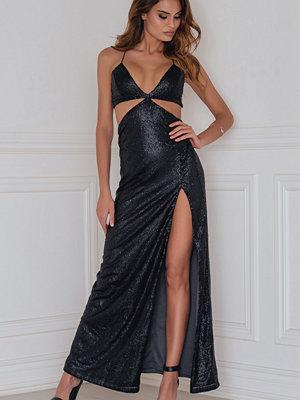 Rebecca Stella Cut Out Sequins Dress - Festklänningar
