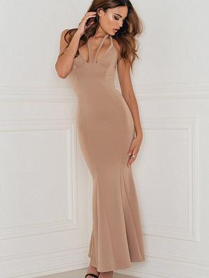 Rebecca Stella Strap Detail Scuba Maxi Dress - Festklänningar