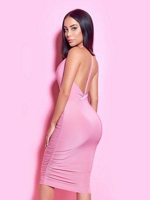 Rebecca Stella Open Back Deep V-neck Dress - Festklänningar
