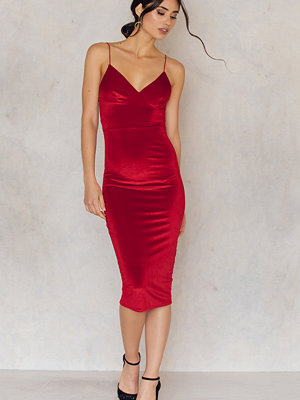 Rebecca Stella Lovestoned Velour Midi Dress