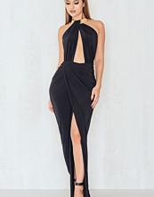 Rebecca Stella Caught In A Choker Maxi Dress svart