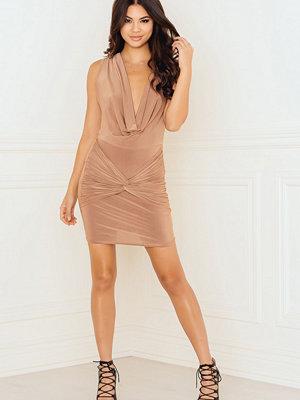 Rebecca Stella Cowl Neck Front with Knot Detail Dress - Festklänningar