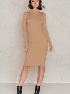 IMVEE Ribbed Stretch Polo Dress