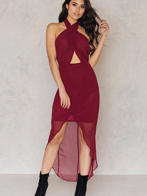 NA-KD Party Wrap Halterneck Midi Dress - Festklänningar