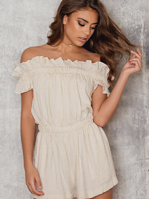 Roser Raw Off Shoulder Romper