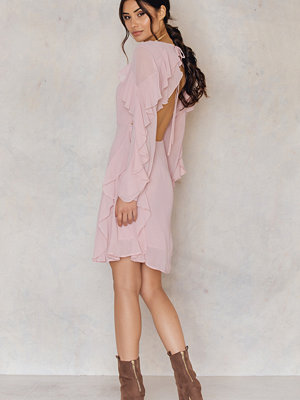 Glamorous Long Sleeved Ruffle Dress