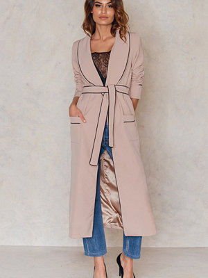Lavish Alice Pyjama Side Split Belted Jacket