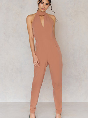 Jumpsuits & playsuits - Lavish Alice Keyhole High Neck Deep Plunge Jumpsuit
