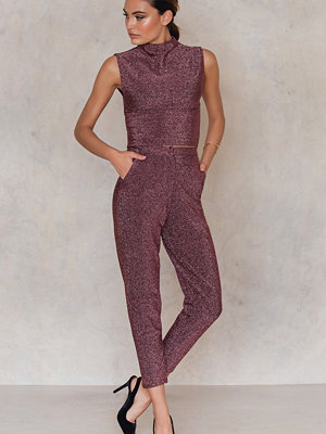 NA-KD Party Glittery Highwaist Trousers