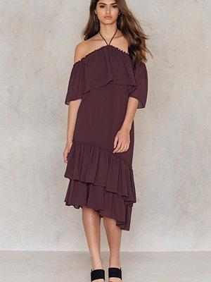 Tranloev Asymmetric Frill Dress lila