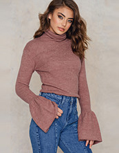 Tröjor - NA-KD Trend High Neck Wide Sleeve Knitted Sweater
